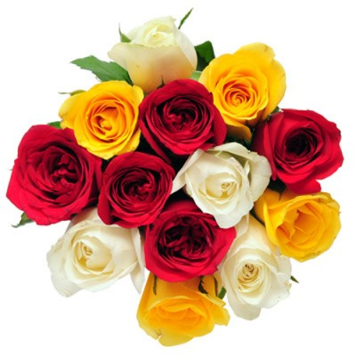Deliver Flowers in India - 15 Mix Roses Bunch