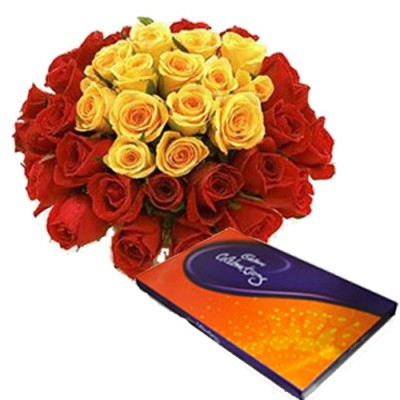 Mother's Day Flowers to India - Flowers with Chocolate