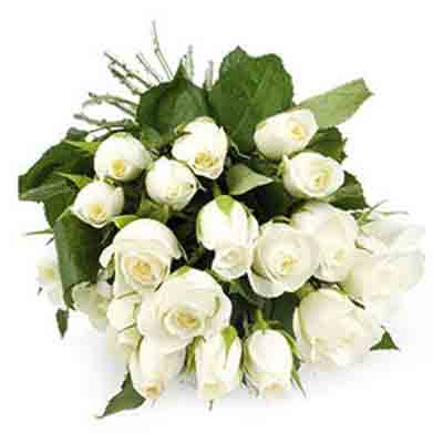 Send Online White Flowers to India