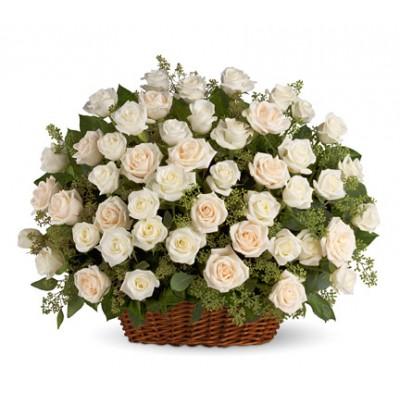 Midnight White Flowers to India