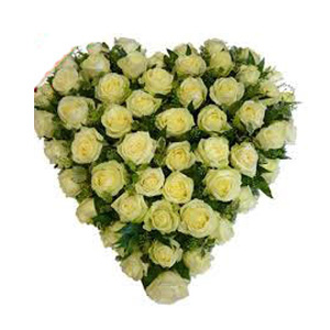 Heart Flowers to India