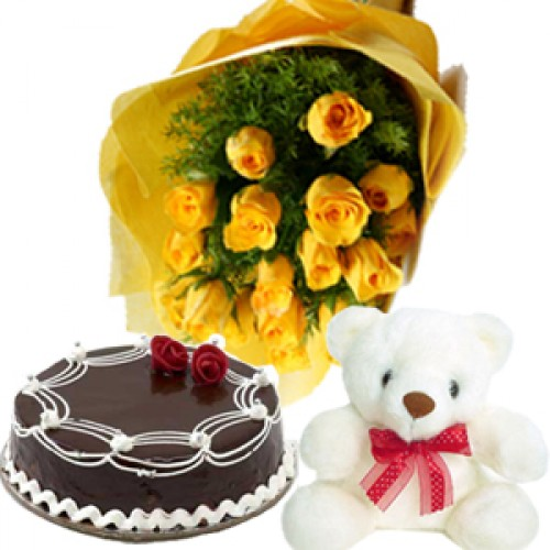 Buy Online Cakes and Flowers to India