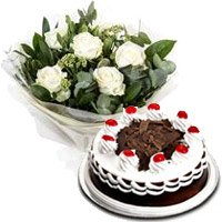 Order for Cakes and Flowers to Ahmedabad