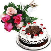 Buy Online Flowers with Cakes to Ahmedabad