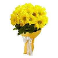 Best Flowers to India : Yellow Gerbera Bouquet