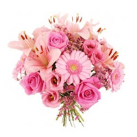 Flowers to India : Pink Bouquet Flowers to India