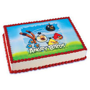 Angry Bird Photo Cake to India