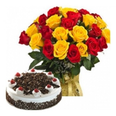 Get Well Soon Cakes and Flowers to Ahmedabad