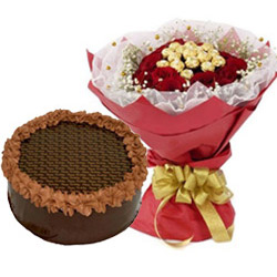 Send Cakes and Flowers to Noida