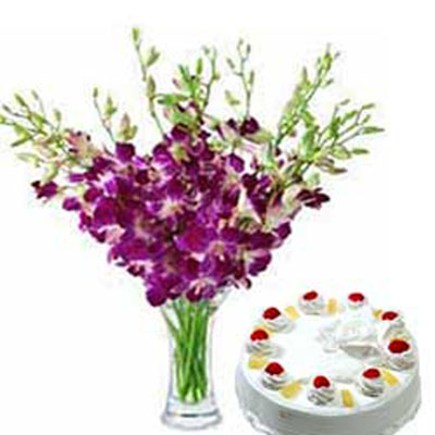 Online Cakes and Flowers to India