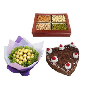 heart shape cakes to Vadodara