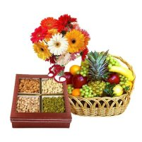 Flowers and Dryfruits to India