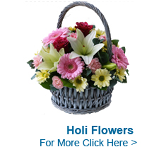 Flowers for Holi to India
