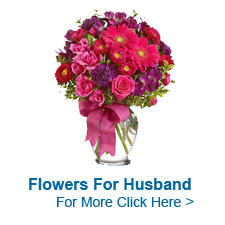 Flowers for Husband to India