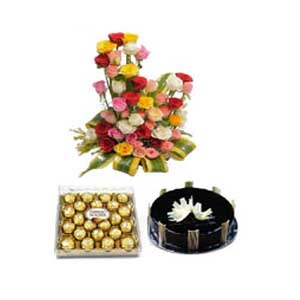 Flowers and cake to Jabalpur