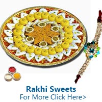 Rakhi Sweets for Sister to India