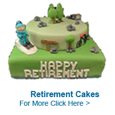 Send Online Retirement Cakes to India