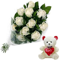 Deliver Best White Roses to India