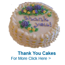 Send Thank You Cakes to India