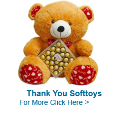 Send Thank You Soft Toys to India
